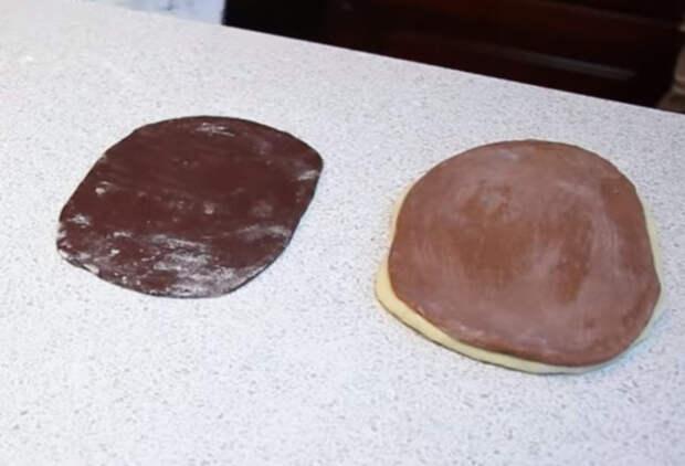 Простые и очень красивые шоколадные булочки к чаю