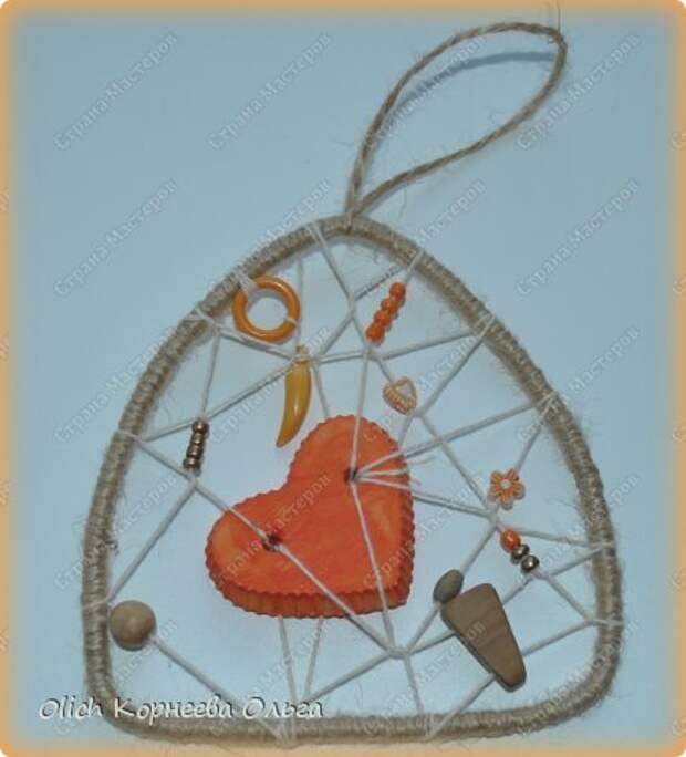 Мастер-класс Поделка изделие Валентинов день Моделирование конструирование Подвески к дню Святого Валентина Бисер Бусины Гипс Нитки Проволока Шпагат фото 1