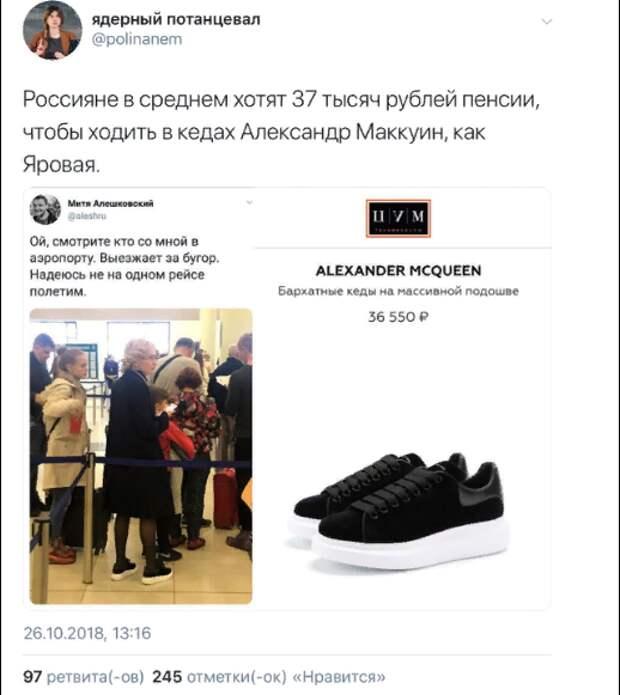 Социальная зависть к кедам и Брегель от Навального. Юлия Витязева