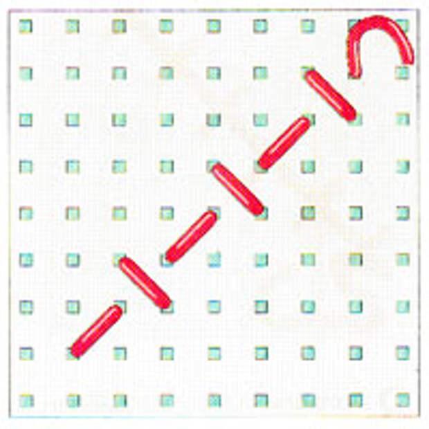Вышивка крестиком по диагонали. Простая диагональ (фото 5)