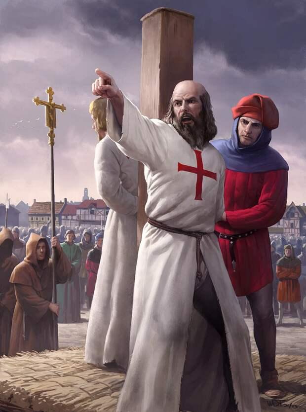 18 марта 1314 года был казнен Жак де Моле - двадцать третий и последний Магистр ордена Тамплиеров.