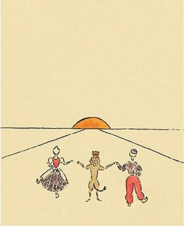Детские рисунки Одри Хепберн.