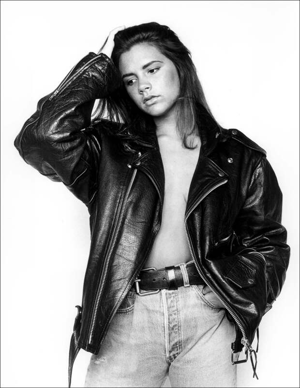 17-летняя Виктория Адамс (Бекхэм) 1992  год.