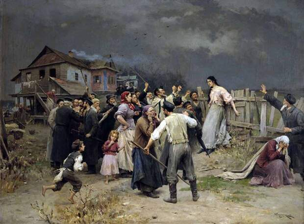 Дореволюционные Украинские пейзажи в картинах Николая Пимоненко.
