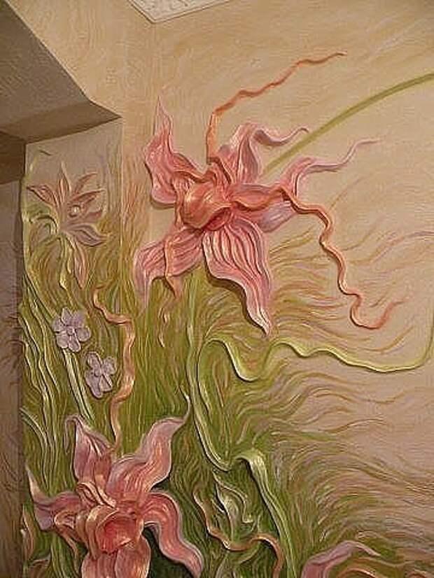 Очень красивая отделка стен!