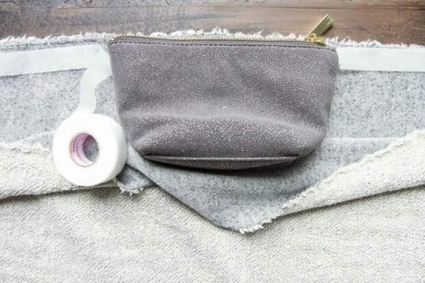 Шарф, который не надо шить с удобным потайным кармашком