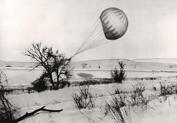 23 февраля 1945 года в Канзасе дерево зацепило одну из японских «бомб»