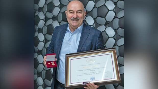 Сборная России во главе с Черчесовым получила специальную медаль «За высокие спортивные достижения на ЧМ-2018»