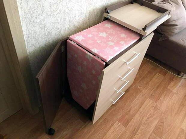Идеи для хранения гладильной доски. Или 10 мест, где можно спрятать гладильную доску, фото № 31
