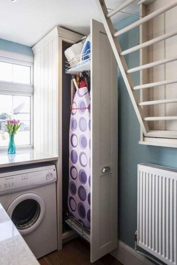 Идеи для хранения гладильной доски. Или 10 мест, где можно спрятать гладильную доску, фото № 6