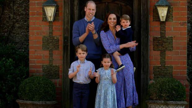 Принц Уильям, герцогиня Кейт, Джордж, Шарлотта, Луи, Лондон 2020