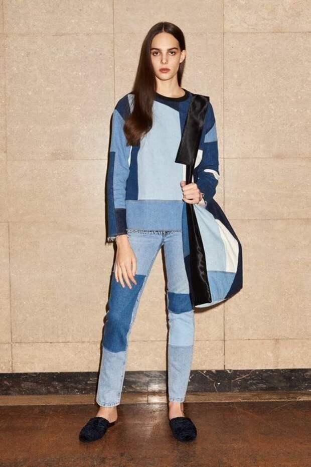 модные Джинсовые спортивные костюмы идеи что сшить из джинсов одежда