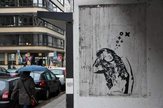 Уличные трафареты и другие изыски стрит-арта