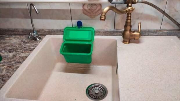 Переделка пластикового контейнера в ноу-хау для кухни