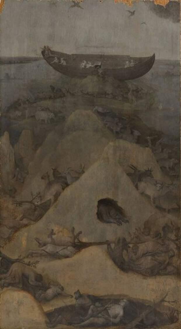 Левая створка - Ной на горе Арарат