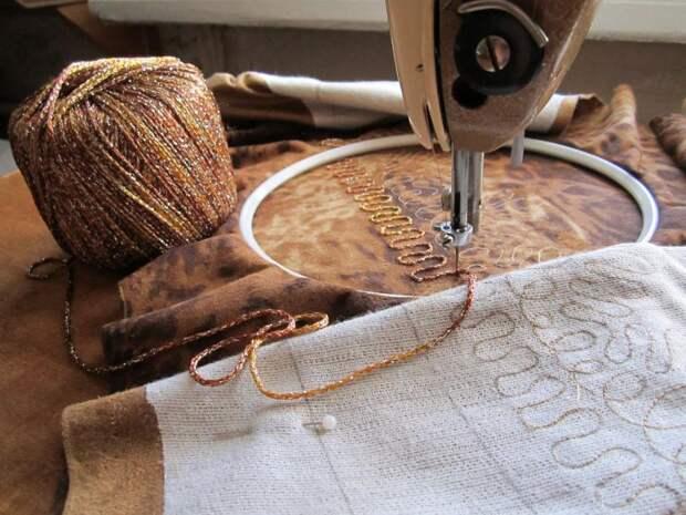 Как вышивать на простой швейной машинке