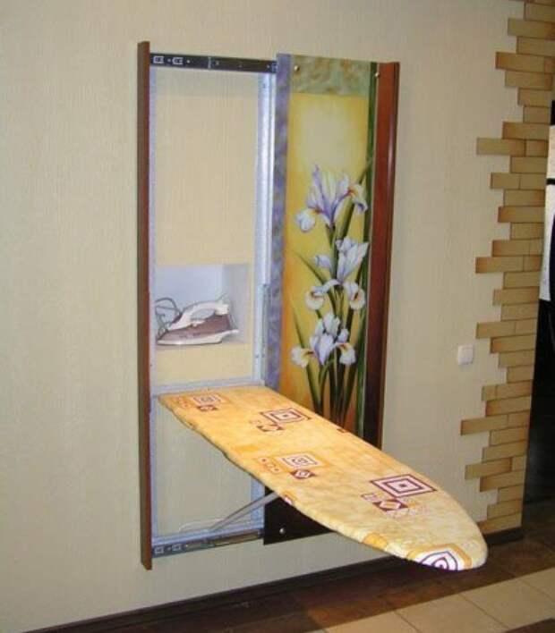 Идеи для хранения гладильной доски. Или 10 мест, где можно спрятать гладильную доску, фото № 20