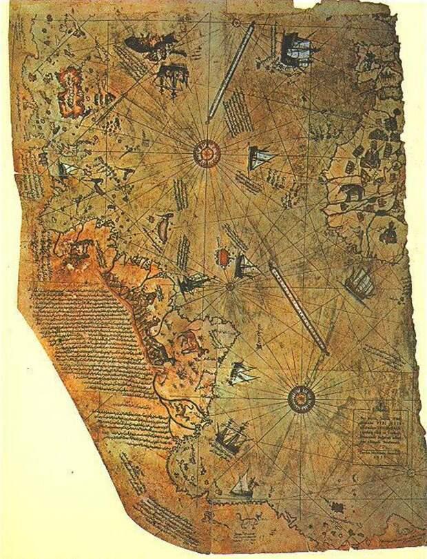 Карта двух Америк Доколумбовой эпохи