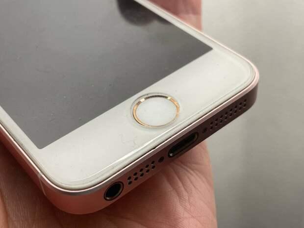 Touch ID встроен в кнопку смартфона iPhone 5s