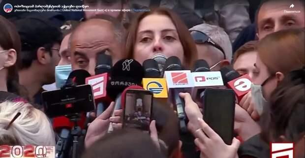 Грузинская оппозиция не признала итоги выборов и отказалась от мандатов