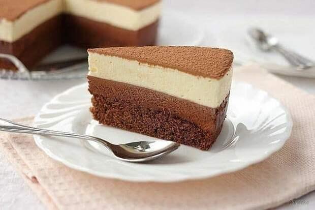 Торт Шоколадный дуэт. Просто готовится и быстро съедается 2