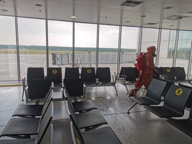 Минтранс проверил дезинфекцию помещений внижегородском аэропорту Стригино