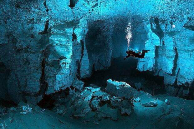 Ординская пещера - одно из любимых мест дайверов!