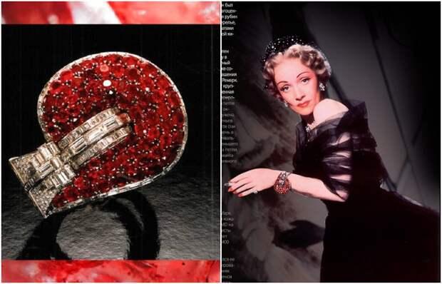 Рубиновый браслет-манжета