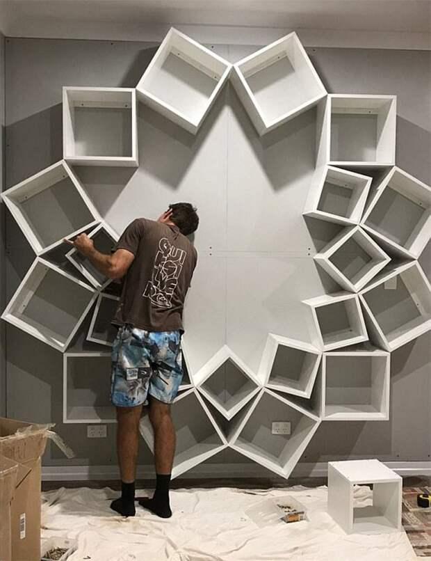 Вот как-то так книжная полка, мебель, мебель для гостиных, полки, самоделки, своими руками, сделай сам
