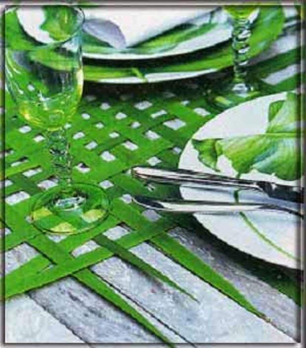 salfetka dlja piknika iz travy
