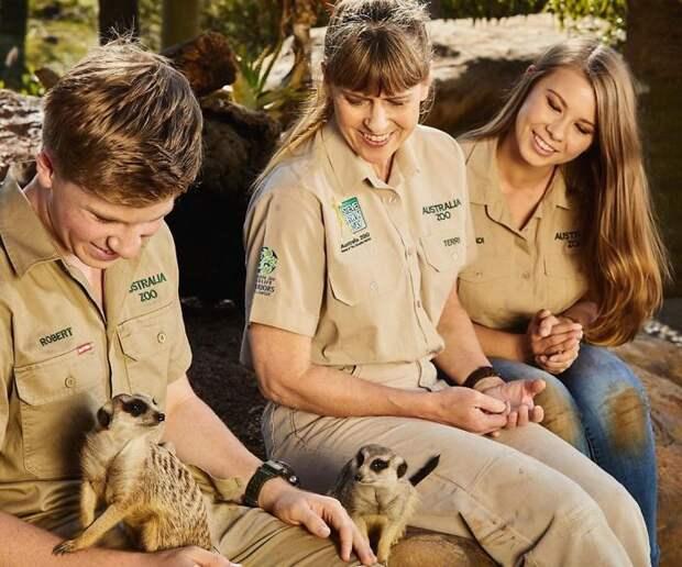 семья с животными