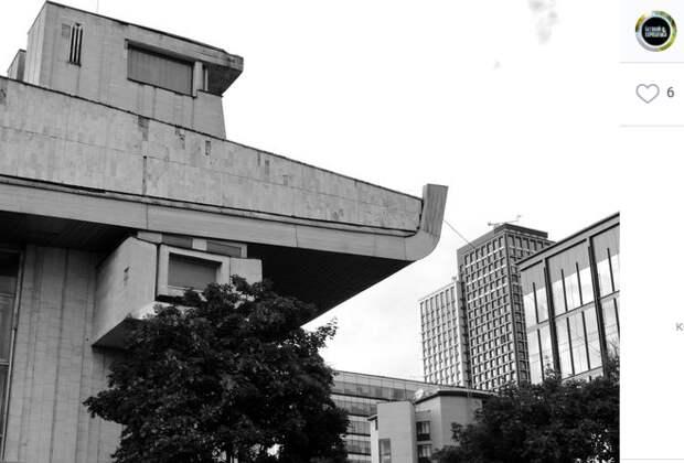 Фото дня: брутальное здание в Хорошевке