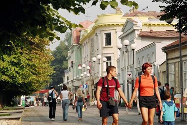 Русские туристы в Юрмале