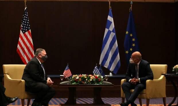 Госсекретарь США Помпео и премьер-министр Греции Мицотакис