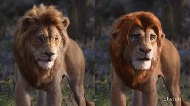 Перерисовал нового Короля льва, ближе к оригиналу