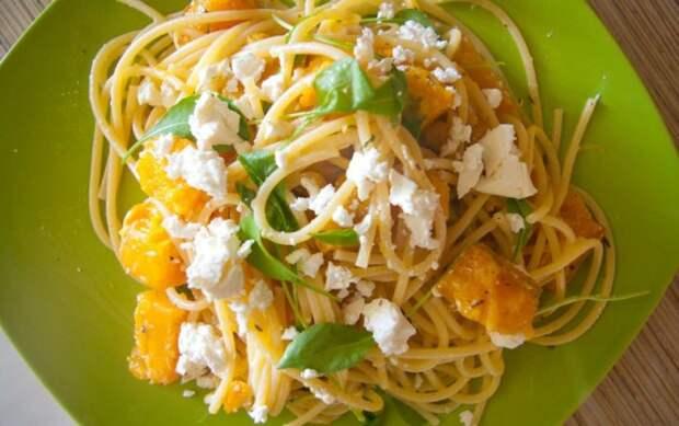 Спагетти с тыквой. \ Фото: rightfood.net.