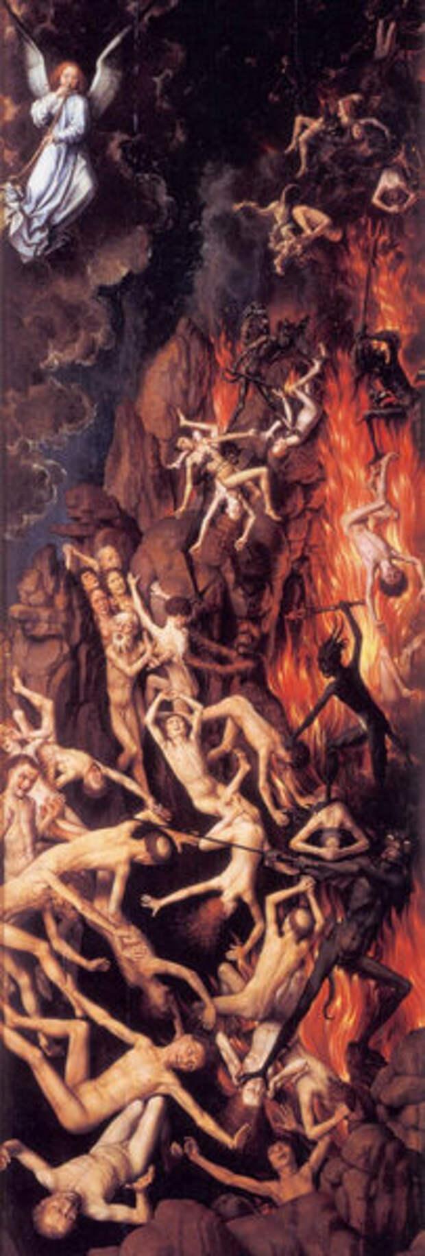 Правая створка триптиха Страшный Суд