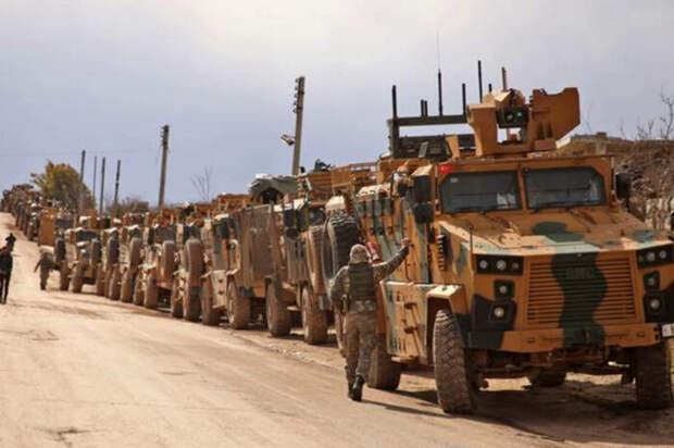 Сокрушительный удар штурмовиков ВКС РФ остановил турецкий военный конвой вИдлибе