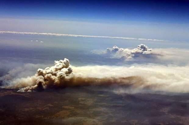 Пожары в Австралии выбросили в стратосферу столько же дыма, сколько и вулкан