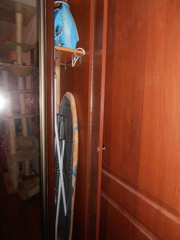 Идеи для хранения гладильной доски. Или 10 мест, где можно спрятать гладильную доску, фото № 2