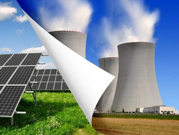 ВИЭ зеленая энергетика энергетический поворот Германия АЭС