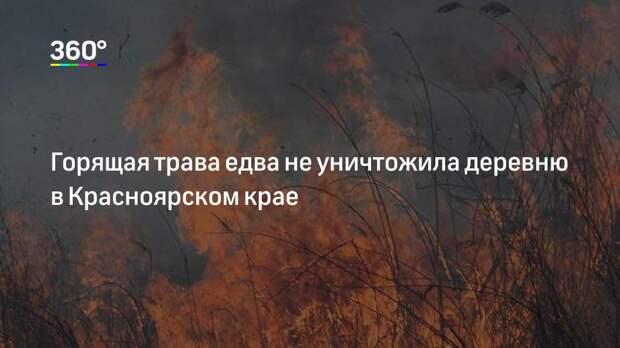 Горящая трава едва не уничтожила деревню в Красноярском крае