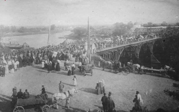 мост через Днепр в довоенном Могилеве []
