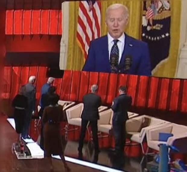 Ток-шоу на украинском ТВ резко прервали из-за послания Байдена по России
