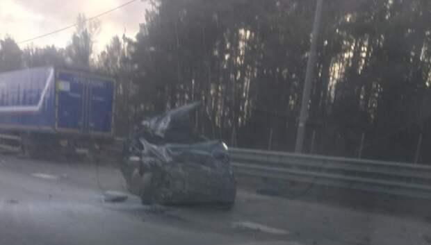 В соцсетях появилось видео тройного ДТП в Подольске, где пострадали 2 девушки