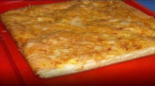 Сытный и вкусный наливной пирог с сыром. Люблю простые рецепты!
