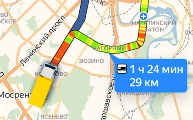 Дальнобойщикам на заметку: Яндекс запускает навигацию по грузовому каркасу столицы