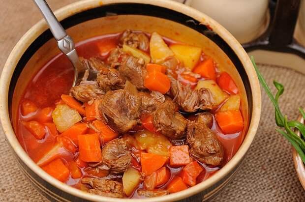 суп с говядиной и тыквой