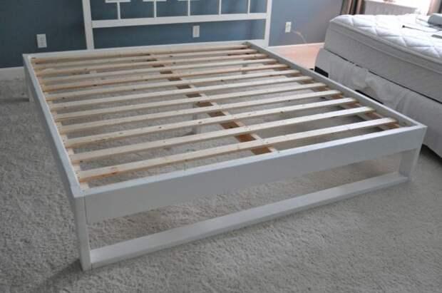 Как сделать простой каркас кровати из дерева