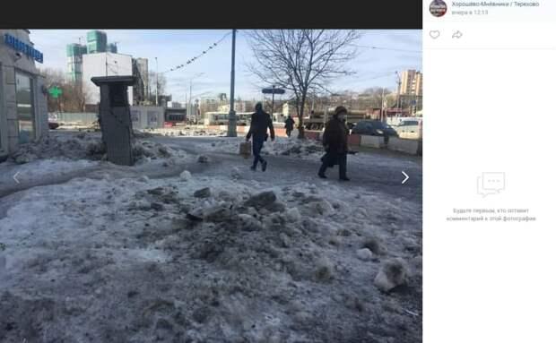 Газон и дорожки на проспекте Маршала Жукова восстановят до конца мая – префектура